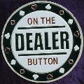 ON THE DEALER Metal Poker Card Protector (Silver Colour)