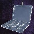 400 Capacity Clear Poker Chip Case With Lock