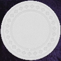 White poker chip diamond rim 4gm