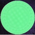 Light Green poker chip diamond rim 4gm