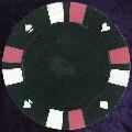 Black Double Stripe 3 Colour 14gm Poker Chips