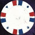 White Double Stripe 3 Colour 14gm Poker Chips