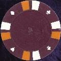 Dark Magenta Double Stripe 3 Colour 14gm Poker Chips