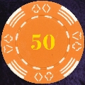 Orange Four Tab Numbered 50