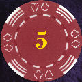 Red Four Tab Numbered 5