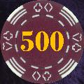 Burgundy Four Tab Numbered 500