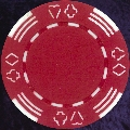 Red Four tab poker chip 11.5gm