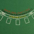 Blackjack Felt 180 x 90cm Green for 7 Players