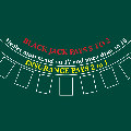 Blackjack Layout 190 x 120cm Dark Green for 9 Players