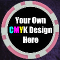 Pink Customised 11.5gm Sticker Poker Chip
