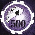 Dark Purple Twist 11.5gm Poker Chips Dark Red Numbered 500