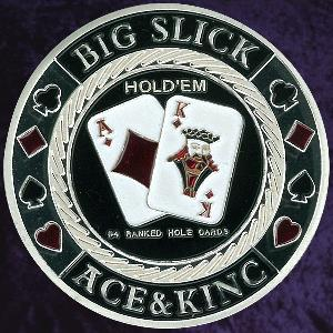 Personalised poker card protectors