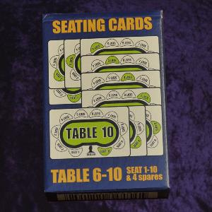 Poker seat cards