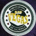 LAS VEGAS Metal Poker Card Protector (Silver Colour)