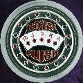 ROYAL FLUSH Metal Poker Card Protector (Silver Colour)