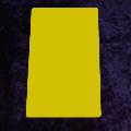 Yellow Narrow Cut Card