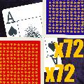BOX of  144 Very High Quality Standard Width Super Index 72 Burgundy and 72 Blue Playing Cards