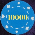 Light Blue Card Suit chip 11.5gm Numbered 10000