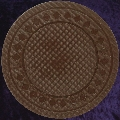 Brown poker chip diamond rim 4gm