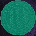 Green poker chip diamond rim 4gm