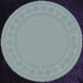 Grey poker chip diamond rim 4gm