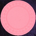 Pink poker chip diamond rim 4gm