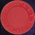 Red poker chip diamond rim 4gm