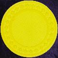 Yellow poker chip diamond rim 4gm