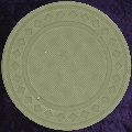 Taupe poker chip diamond rim 4gm