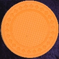 Light Orange poker chip diamond 4gm