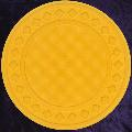 Dark Yellow poker chip diamond rim 4gm