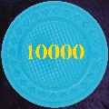 Light Blue plastic chips 4gm numbered 10000