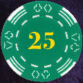 Green Four Tab Numbered 25