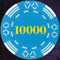 Light Blue Four Tab Numbered 10000