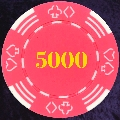 Very Pink Four Tab Numbered 5000