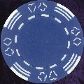 Blue Four tab poker chip 11.5gm