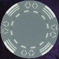 Grey Four tab poker chip 11.5gm