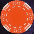 Orange Four tab poker chip 11.5gm
