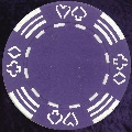 Purple Four tab poker chip 11.5gm