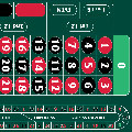 Roulette Layout '0' Right Hand 290 x 160cm Dark Green With Track