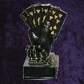 Gold Royal Flush Poker Trophy