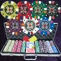 Numbered 500 Double Stripe 14gm Poker Set