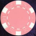 Pink six tab dice design heavy chip 11.5gm
