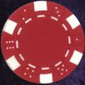 Red six tab dice design heavy chip 11.5gm