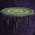 Customised Octagonal poker table with 4 metal screw in  legs