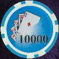 Light Blue Twist 11.5gm Poker Chips Numbered 10000
